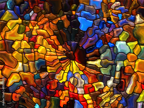 Foto Spatwand Glas In Lood Dance of Stained Glass