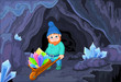 Gnome with Quartz Crystals
