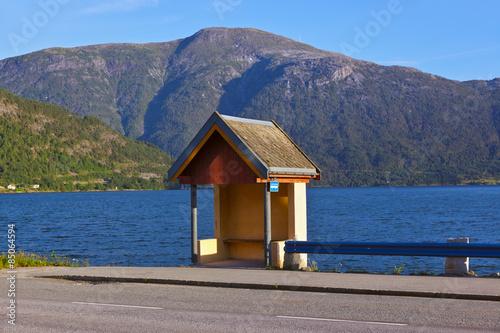 Aluminium Bus stop in Sogndal - Norway