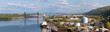 Portland Shipyard Along Willamette River Panorama