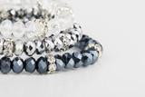 Homemade bead jewelry - Stock Image.