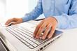 Obraz,Plakat - man using his laptop