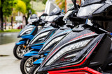 Front of Wet Motorcycles - 85092313
