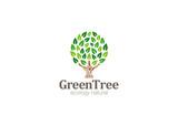 Green Tree Logo Abstract Circle shape design vector template...E - 85092561