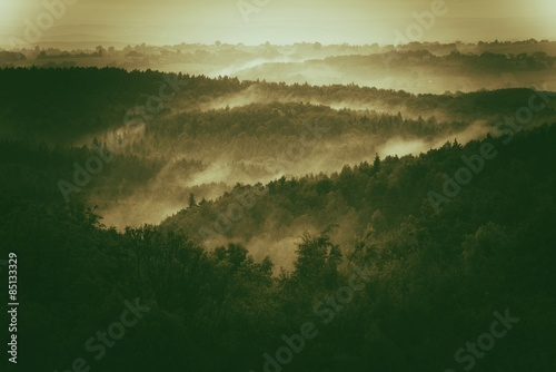 Foggy Hills of Poland