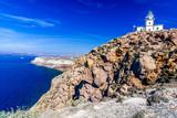 Fototapeta Santorini lighthouse, Greek Islands, Greece