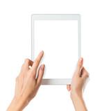 Woman holding digital tablet - 85150744