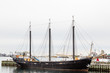 Black Three Masted Schooner in Halifax