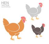 Hen. Set