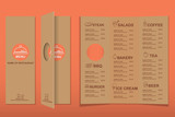 Fototapety restaurant, bistro and cafe menu, infographics background and elements simple design. Can be used for layout, banner, web design, brochure template. Vector illustration