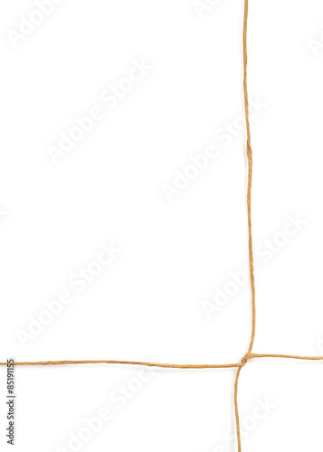 twine cord isolated on white Poster