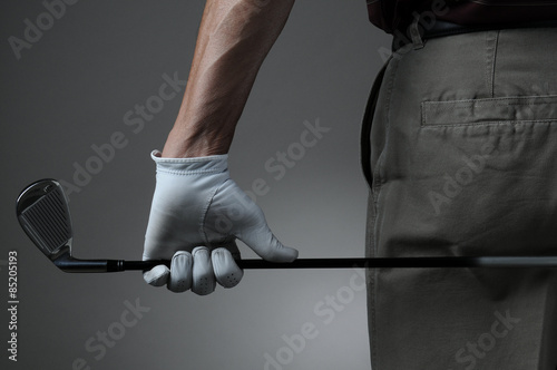 Poster Closeup of Golfer with Club