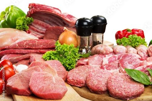 fototapeta na ścianę Mięso, sklep mięsny, Raw.