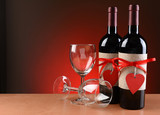Wine Bottles Decorated For Valentines Day