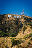 Fototapety View of the Hollywood Sign from Canyon Lake Drive, in Los Angele