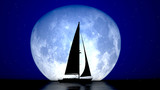 Fototapeta sailboat and the moon