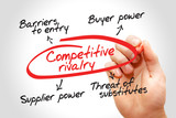 Competitive rivalry business concept poster