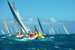 Постер, плакат: Sailing yachts regatta Series yachts and ships