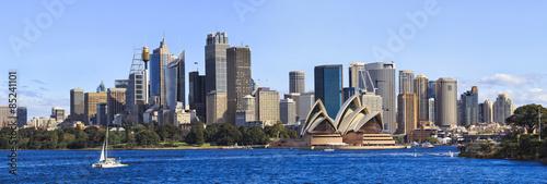 obraz PCV Dzień Od Sydney CBD panorama łodzi
