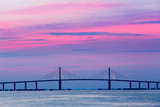 Sunshine Skyway Bridge at dawn poster
