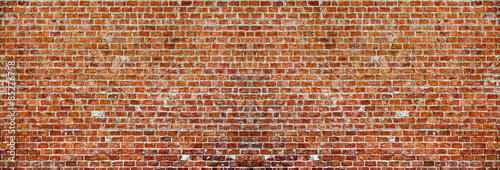 Fotobehang Baksteen muur Brick wall panaroma