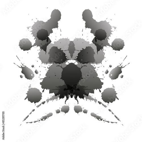 Keuken foto achterwand Vlinders in Grunge Rorschach test card