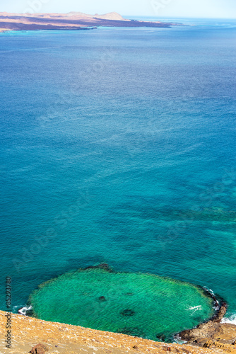 Underwater Crater Vertical in Galapagos