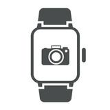 Icono smartwatch camara gris