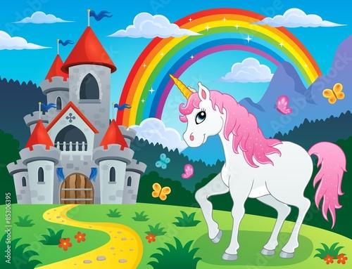 Fairy tale unicorn theme image 4 Plakát