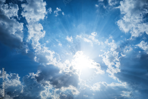Fototapeta Beautiful clouds and blue sky