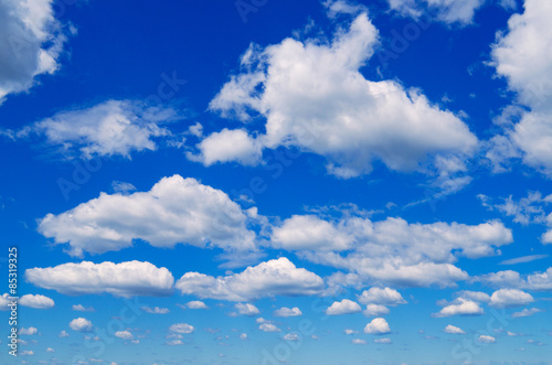 Fototapeta Blue sky with clouds.