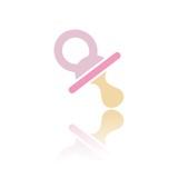 Icono chupete rosa reflejo
