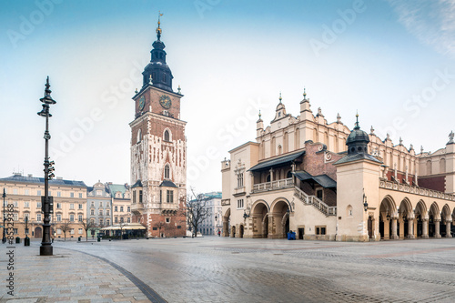 Old city center of Krakow, Poland
