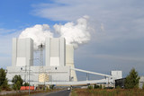 Naklejka Kraftwerk, Liebenau, Rauchwolke, Kühtürme