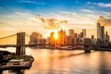Brooklyn Bridge and the Lower Manhattan skyline at sunset - 85359964