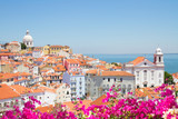Fototapety view of Alfama, Lisbon, Portugal