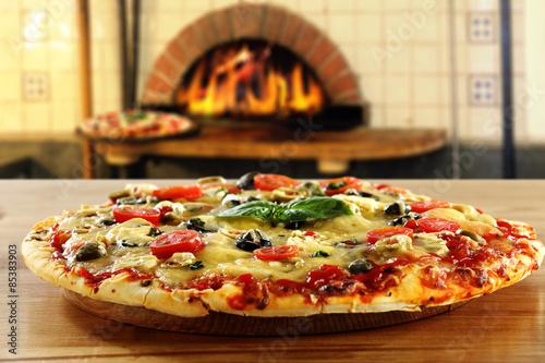 Deurstickers Pizzeria pizza