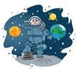 Постер, плакат: Космонавт