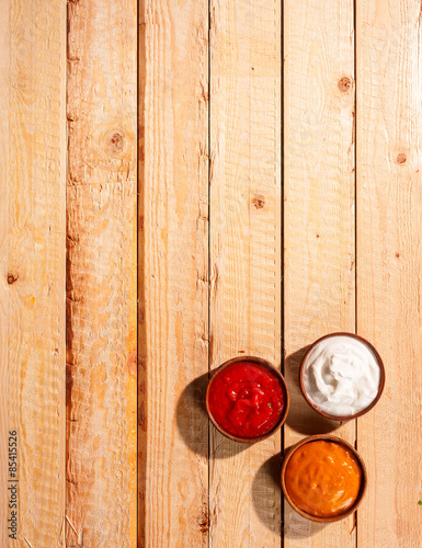 Individuals sauces for a summer barbecue