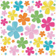 Cute colorful flowers vector background