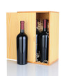 Gift Box of Red Wine Bottles