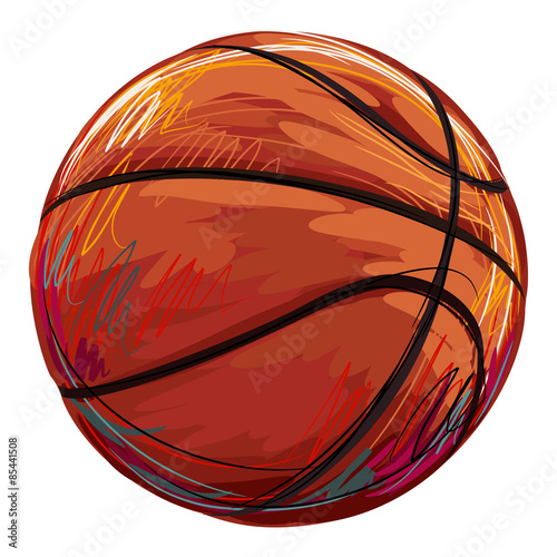 obraz PCV Basketball Created by professional Artist. This illustration is created by Wacom tabletby using grunge textures and brushes