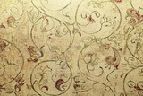Fototapety Vintage shabby chic wallpaper with floral victorian pattern