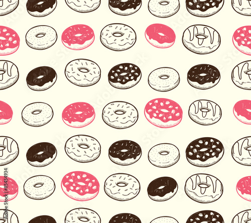 Cotton fabric vintage donut background