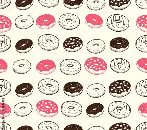 Cotton fabric vintage donut background
