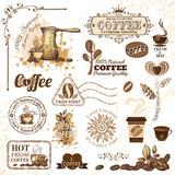 Fototapety Coffee design elements