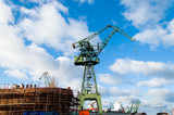 The crane at the port in Gdansk