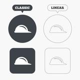 Hard hat sign icon. Construction helmet symbol. - 85478781