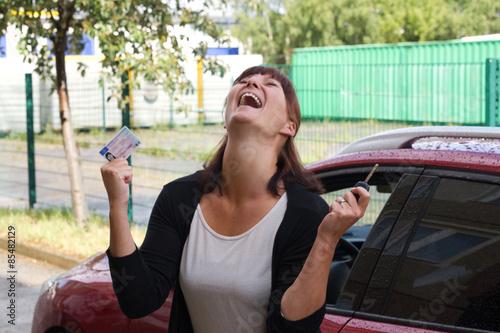 Frau über Ihren Führerschein Poster