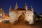 Barbican Fortification by Night in Krakow